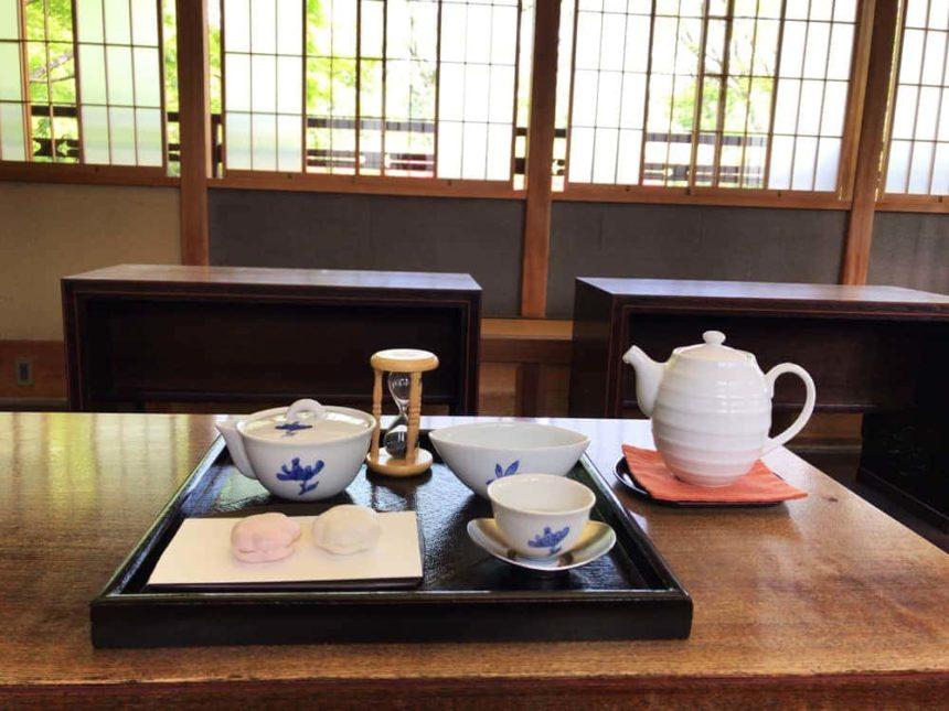 Ryurei seats of Momijiyama Garden